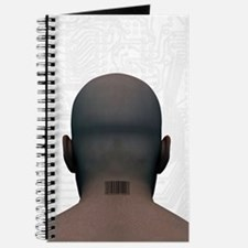 Barcoded man, artwork Journal