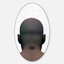 Barcoded man, artwork Decal