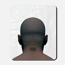 Barcoded man, artwork Mousepad