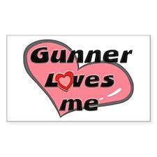 gunner loves me Rectangle Decal
