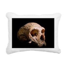 Neanderthal skull Rectangular Canvas Pillow