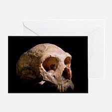 Neanderthal skull Greeting Card