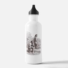 Neanderthal couple Water Bottle