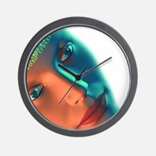 Biometric identification, artwork Wall Clock
