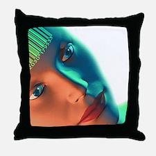 Biometric identification, artwork Throw Pillow