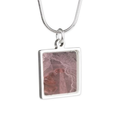 Nazca lines Silver Square Necklace