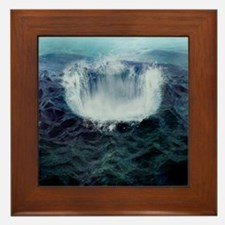 Bermuda triangle, conceptual artwork Framed Tile