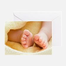 Baby's feet Greeting Card