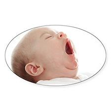 Baby yawning Decal