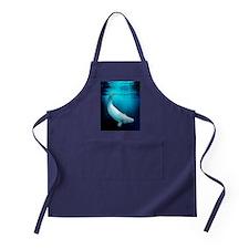 Beluga whale, artwork Apron (dark)