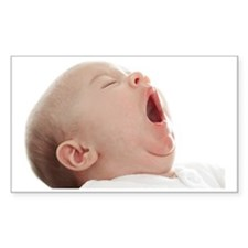 Baby yawning Decal