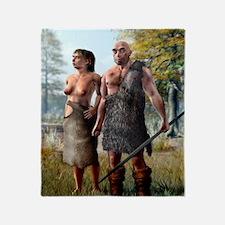 Neanderthals, artwork Throw Blanket