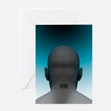 Barcoded man, artwork Greeting Card
