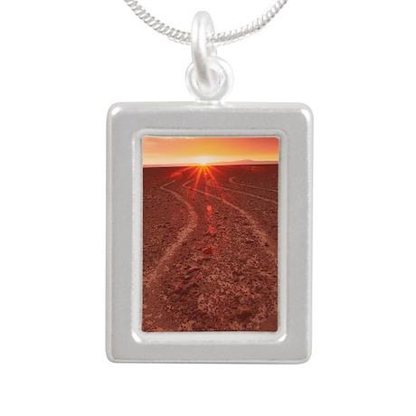 Nazca lines Silver Portrait Necklace