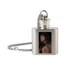 Neanderthal man Flask Necklace