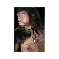 Neanderthal man Rectangle Magnet
