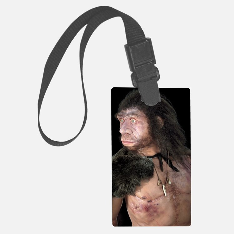 Neanderthal man Luggage Tag