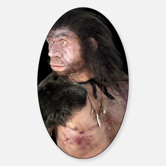 Neanderthal man Sticker (Oval)