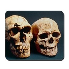 Neanderthal and Cro-Magnon 1 skulls Mousepad