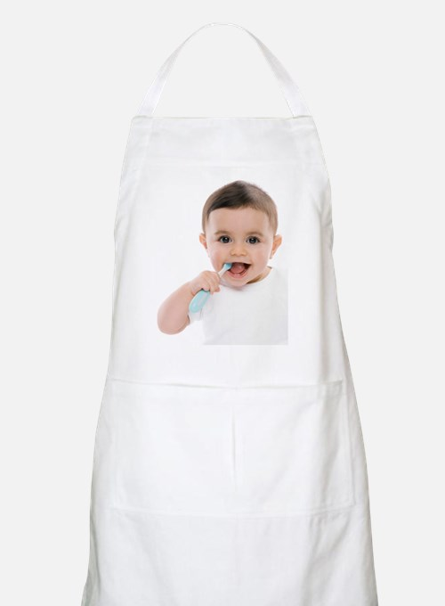 Baby boy with toothbrush Apron
