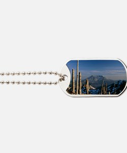 Mount St Helens volcano Dog Tags