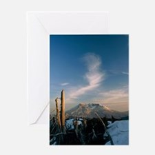 Mount St Helens volcano Greeting Card