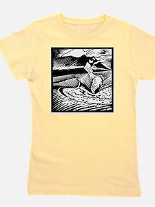 Mount Etna, woodcut Girl's Tee