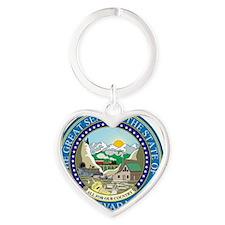 Nevada Heart Keychain