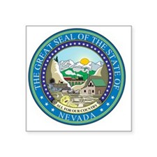 """Nevada Square Sticker 3"""" x 3"""""""