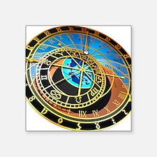 "Astronomical clock, artwork Square Sticker 3"" x 3"""