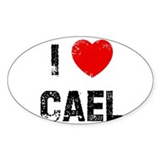 I * Cael Oval Decal
