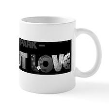 flat-Out Love, The Book - Long Logo, BW Mug