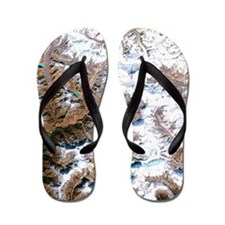 Mount Everest, satellite image Flip Flops