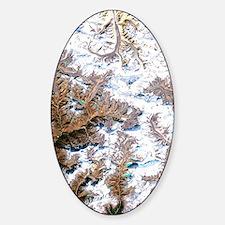 Mount Everest, satellite image Decal
