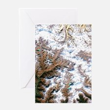 Mount Everest, satellite image Greeting Card