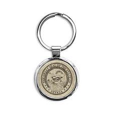 Vintage Nevada Round Keychain