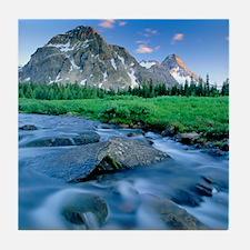 Mount Assiniboine Tile Coaster