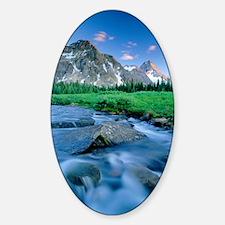 Mount Assiniboine Sticker (Oval)