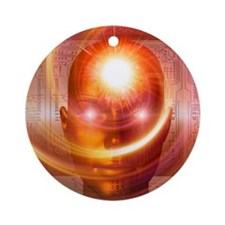 Artificial intelligence, artwork Round Ornament