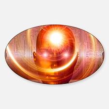 Artificial intelligence, artwork Sticker (Oval)