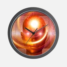 Artificial intelligence, artwork Wall Clock
