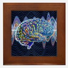 Artificial intelligence, artwork Framed Tile