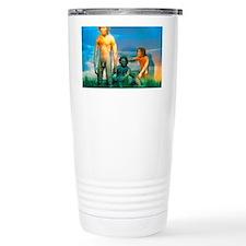 Models of Homo erectus men Travel Mug