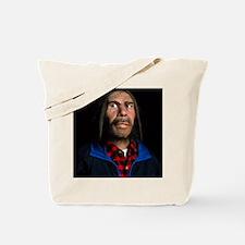 Model of a neanderthal man in modern clot Tote Bag