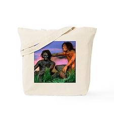 Models of Homo erectus men Tote Bag