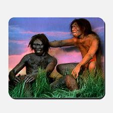 Models of Homo erectus men Mousepad