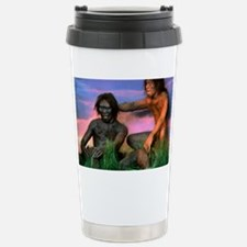 Models of Homo erectus men Travel Mug