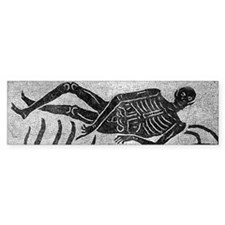 Mosaic skeleton Bumper Sticker