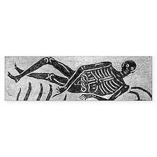 Mosaic skeleton Car Sticker