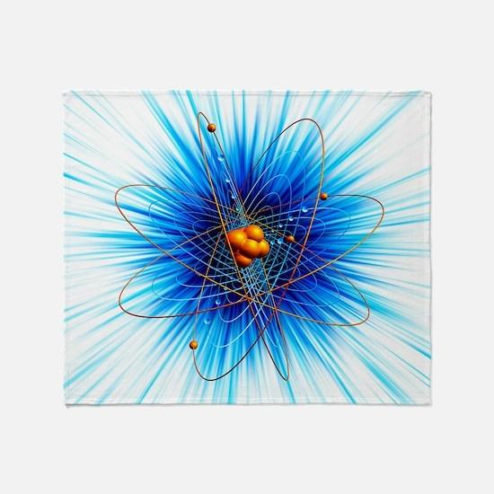 Atomic structure, artwork Throw Blanket